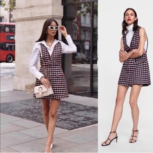 f92040d9 Zara Dresses | Textured Weave Dress With Trim | Poshmark